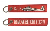 Ka 8 / Remove Before Flight - Keyring